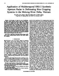 Application of multitemporal ERS-2 synthetic aperture radar in ...