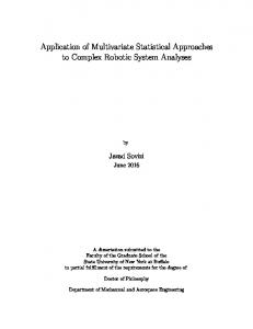 Application of Multivariate Statistical Approaches to