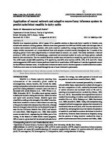 Application of neural network and adaptive neuro-fuzzy inference