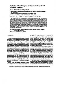 Application of New Triangular Functions to ... - Semantic Scholar