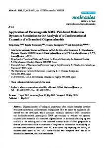 Application of Paramagnetic NMR-Validated Molecular Dynamics ...