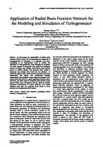 Application of Radial Basis Function Network for the Modeling and ...