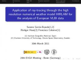 Application of ray-tracing through the high resolution numerical ...