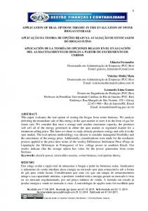 application of real options theory in the evaluation of swine biogas ...