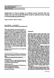 Application of remote sensing, an artificial neural network leaf area ...