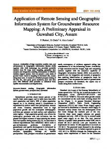 Application of Remote Sensing and Geographic Information System ...
