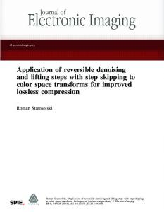 Application of reversible denoising and lifting steps with step skipping ...