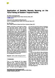 Application of Satellite Remote Sensing on the Tuna Fishery of ...