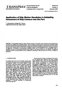 Application of Ship Motion Simulation in Reliability ... - TransNav Journal