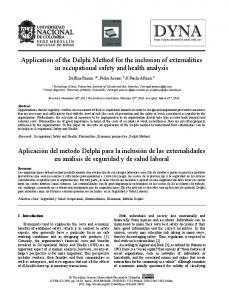 Application of the Delphi Method for the inclusion ... - SciELO Colombia