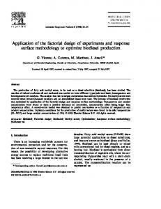 Application of the factorial design of experiments and ... - CiteSeerX