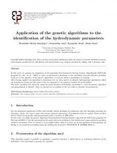 Application of the genetic algorithms to the identification of ... - CiteSeerX