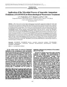 Application of the Microbial Process of Anaerobic Ammonium ...