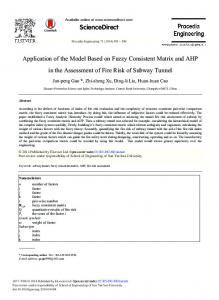 Application of the Model based on Fuzzy Consistent ... - Science Direct