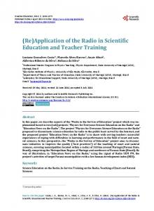 Application of the Radio in Scientific Education and Teacher Training