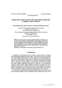 Application of the second order generalized integrator in digital control
