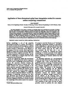 Application of three-dimensional optical laser