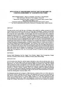 application of unsupervised support vector machine for ... - UQ eSpace