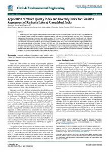 Application of Water Quality Index and Diversity Index for Pollution ...