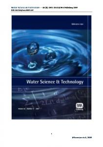 Application of water quality index for assessment of ...