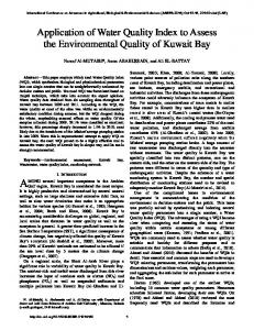 Application of Water Quality Index to Assess the Environmental Quality ...