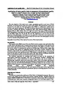 Application of water quality index to assessment of ...