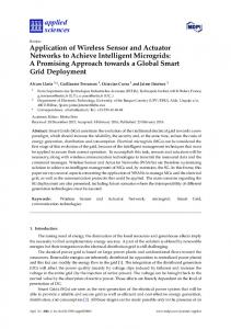 Application of Wireless Sensor and Actuator Networks to ... - MDPI