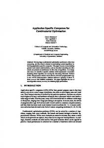 Application Specific Computers for Combinatorial ... - Semantic Scholar