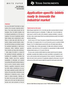Application-specific tablets ready to innovate the ... - Texas Instruments