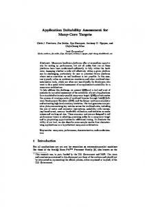 Application Suitability Assessment for Many-Core ...