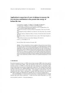 Application to argon ions of a new technique to measure the two ...