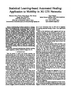 Application to Mobility in 3G LTE Networks
