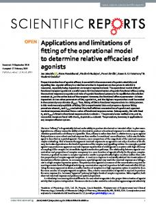 Applications and limitations of fitting of the ... - Naturewww.researchgate.net › publication › fulltext › Applicatio