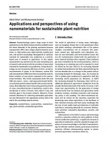 Applications and perspectives of using nanomaterials ...