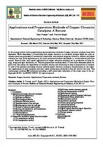Applications and Preparation Methods of Copper ... - CiteSeerX