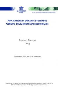 Applications in Dynamic Stochastic General Equilibrium