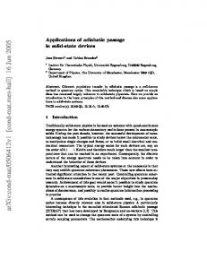 Applications of adiabatic passage in solid-state devices