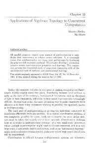 Applications of Algebraic Topology to Concurrent Computation