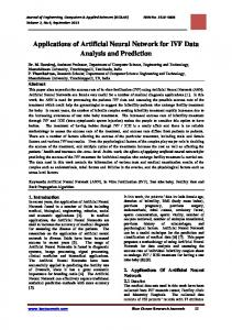 Applications of Artificial Neural Network for IVF Data Analysis and ...