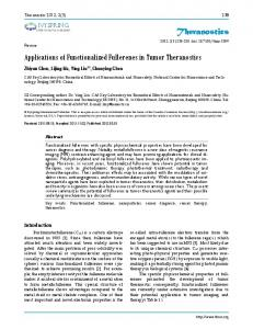 Applications of Functionalized Fullerenes in Tumor Theranostics