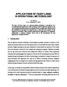 applications of fuzzy logic in operational meteorology