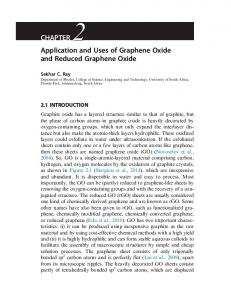 Applications of Graphene and Graphene-Oxide based