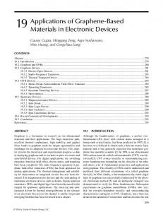 Applications of Graphene-Based Materials in ...