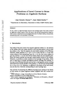 Applications of Level Curves to Some Problems on Algebraic Surfaces