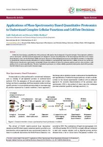 Applications of Mass-Spectrometry Based Quantitative Proteomics to ...
