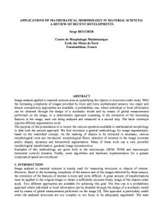 Applications of mathematical morphology in material sciences