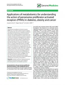 Applications of metabolomics for understanding the ... - BioMedSearch