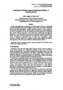 Applications of Mobile Agents in Healthcare Domain: A ... - SERSC