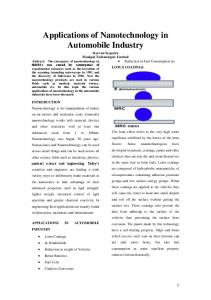Applications of Nanotechnology in Automobile Industry
