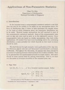Applications of Non-Parametric Statistics - Singapore Mathematical ...